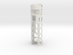 """1.11""""OD All.In.One - Plecter Labs + 16650 battery in White Natural Versatile Plastic"""