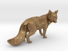 Fox statue in Natural Brass