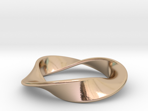 Moebius Strip Pendant (1.5 turns) in 14k Rose Gold