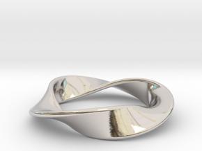 Moebius Strip Pendant (1.5 turns) in Platinum
