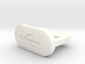 USB Dust Plug Type A in White Strong & Flexible Polished: Extra Small