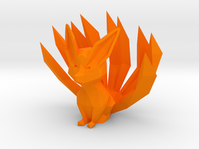 Low-poly Nine-Tailed Fox in Orange Strong & Flexible Polished