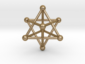 UNIVERSO Merkaba in Polished Gold Steel