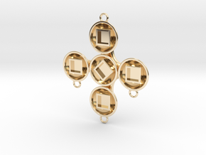 Pendant Hector in 14k Gold Plated Brass