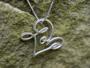 Love Pendant in Premium Silver