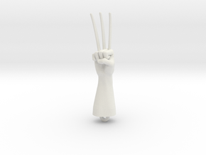 Logan Wolverine claws pendant in White Natural Versatile Plastic
