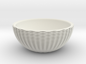 Cross-Cut Bowl in White Natural Versatile Plastic