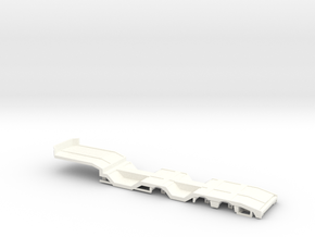 1/87 3 achs OSDS Trailer mit Radmulden  in White Strong & Flexible Polished: 1:87 - HO