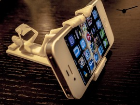 The Reading Man (stand for Iphone 5) in White Strong & Flexible