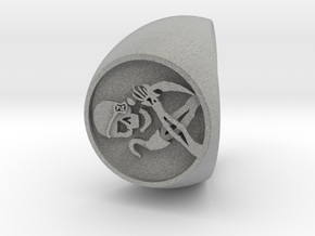 Custom Signet Ring 43 in Metallic Plastic