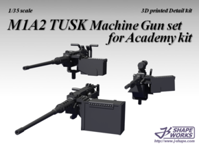 1/16 M1A2 Tusk Machine Gun set in White Natural Versatile Plastic