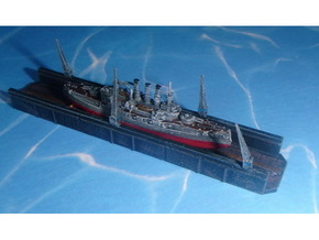 Floating Drydock old style 1 Section 1/1800 in Smooth Fine Detail Plastic