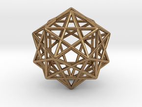 Star Faced Dodecahedron in Natural Brass
