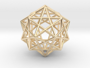 Star Faced Dodecahedron in 14K Yellow Gold