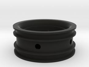 Rim003-03 2.2in Star Wheel, Front, 3mm Offset in Black Natural Versatile Plastic