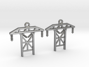 Power Tower Earrings in Polished Silver