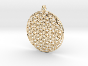 Flower Of Life Pendant (1 Loop) in 14k Gold Plated Brass