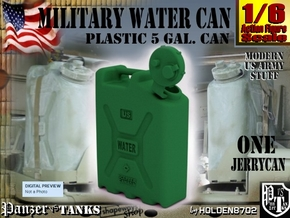 1-6 Military Water Can in Green Processed Versatile Plastic