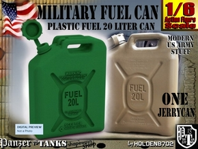 1-6 Military Fuel Can in Green Processed Versatile Plastic
