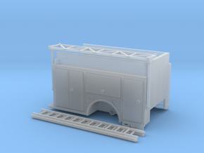 1-87 KME CamdenEngine body w/ Ladder Rack in Smooth Fine Detail Plastic
