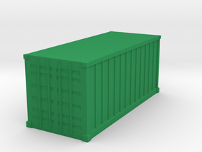 Shipping Container, Standard 20 foot in Green Processed Versatile Plastic: 1:64 - S
