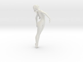 Long Ponytail Girl-005 in White Strong & Flexible