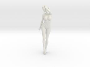 Long Ponytail Girl-008 in White Strong & Flexible