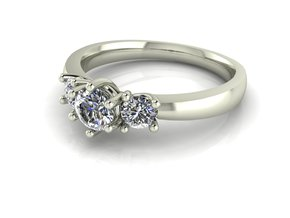 Classic Solitaire 9 NO STONES SUPPLIED in Fine Detail Polished Silver
