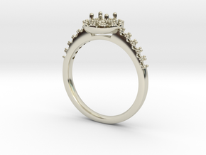 Classic Halo NO STONES SUPPLIED in 14k White Gold