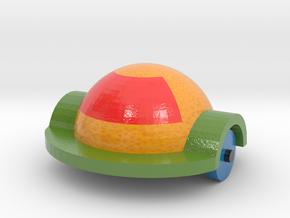 Orange Car 2 in Glossy Full Color Sandstone