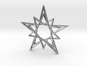 Arabesque: Solar Star in Natural Silver