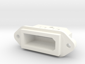 Wii Style Panel Mount Multiout Socket in White Processed Versatile Plastic