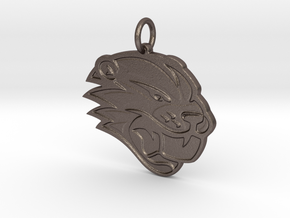 Beaver Local Pendant in Polished Bronzed Silver Steel