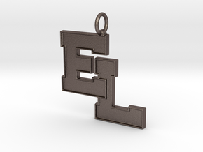 Liverpool Pendant in Polished Bronzed Silver Steel