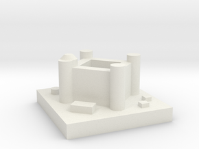 Game of Thrones Risk: Seat of Power Piece in White Natural Versatile Plastic