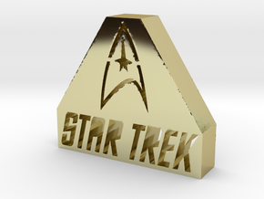 Star Trek Logo in 18k Gold