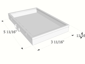 1:6 scale Portable Display Case in White Strong & Flexible