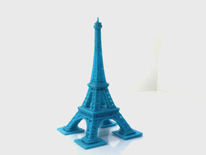 Eiffel Tower  in Blue Processed Versatile Plastic