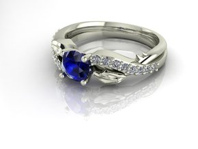 Classic Solitaire 10 NO STONES SUPPLIED in Fine Detail Polished Silver