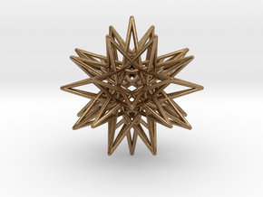 "IcosiDodecahedral Star 1.5"" in Natural Brass"
