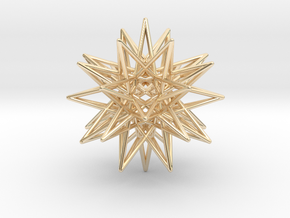 """IcosiDodecahedral Star 1.5"""" in 14K Yellow Gold"""