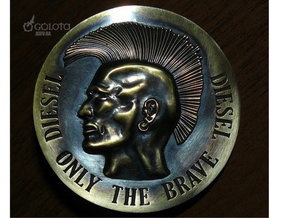 Diesel Warrior Buckle (3d-replica) in Polished Bronze Steel
