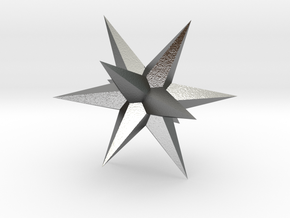 Star - Stellated Dodecahedron in Natural Silver: Small