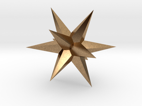 Star - Stellated Dodecahedron in Natural Brass: Small