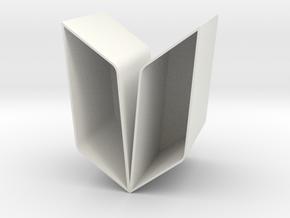 YOUNG Vase-Planter Modular Thin in White Natural Versatile Plastic