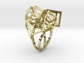 Zicube Ring in 18k Gold Plated Brass: 5 / 49