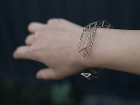 Thin Lena Bracelet - Small (Precious Metal) in Natural Bronze