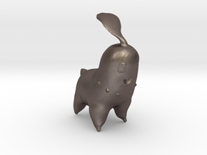 Chikorita in Polished Bronzed Silver Steel