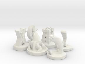 GoT House Marker Pack in White Strong & Flexible