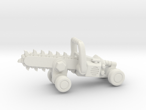 Chainsaw Car, Prize Size! in White Natural Versatile Plastic